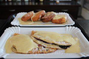 Wurst und Durst Desserts Blaubeer-Pancakes Apfelringe